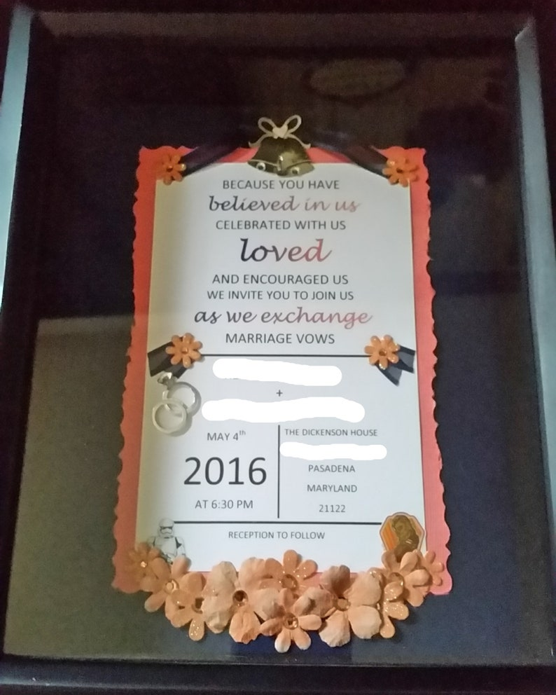 Wedding Keepsake Shadow Box
