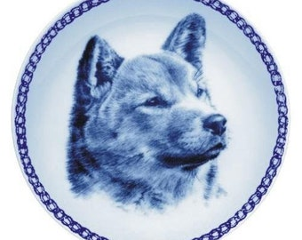 Shiba Inu Dog Plate made in Denmark from the finest European Porcelain