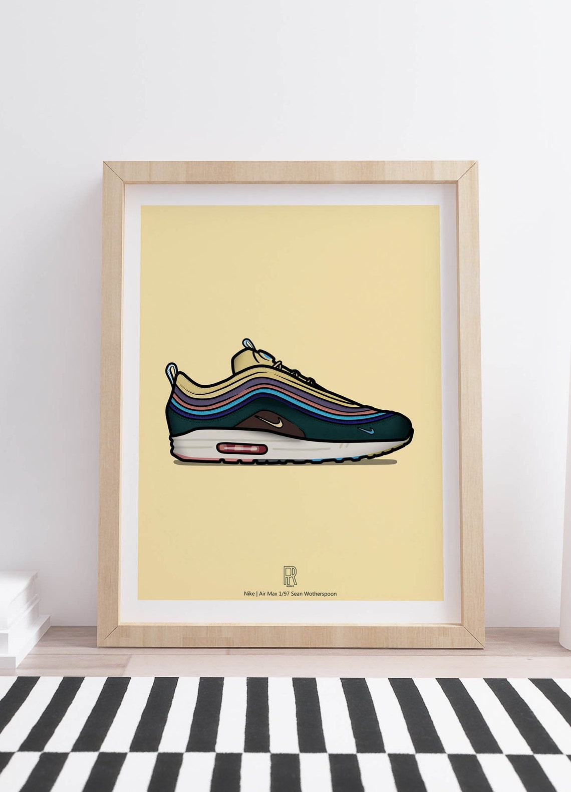 Air Max 1/97 Sean Wotherspoon Digital Artwork poster A3 Dorm image 0
