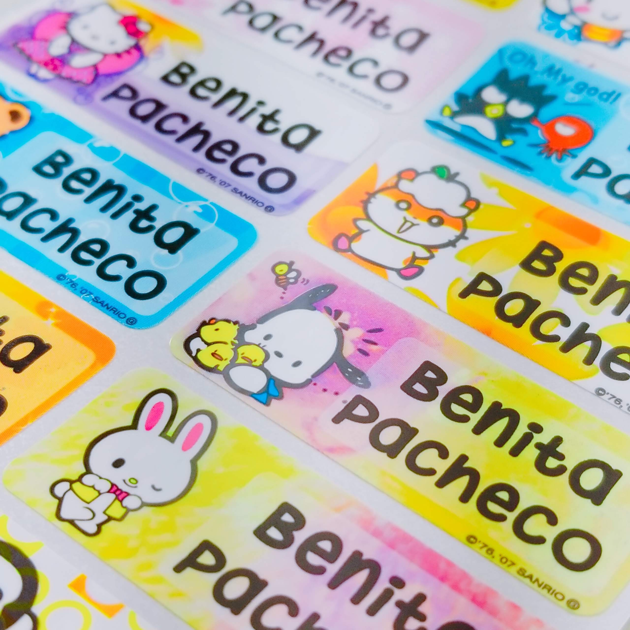Waterproof name stickers baby label kids name labels personalize kids sticker address return label waterproof baby bottle label hello kitty