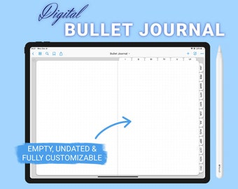 The Simple Digital Bullet Journal   GoodNotes Optimized, PDF, Empty, Blank, Linked, Undated Dot Grid Planner
