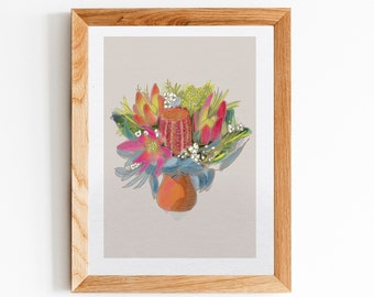 Australian Flowers Art Print - Flowers print - Wall art - Fine Art Print