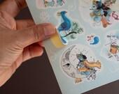 Sticker Sheet - Radha Krishna - Watercolour Illustration - Cute Stickers - Sticker Pack - Planner Stickers