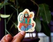 Hanuman    Semiclear Sticker   Watercolour Illustration