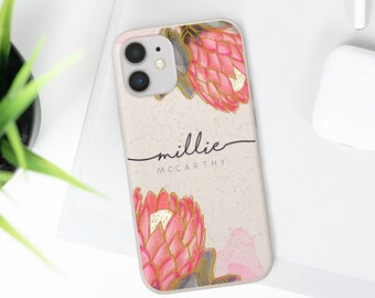 Personalised Eco Friendly 100% Biodegradable case    IPhone cases   Samsung galaxy cases   Watercolour Illustration   Eco Friendly Gift Case