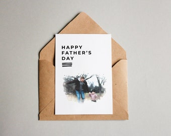 Custom  Photo Card   Happy Birthday Dad Card   Personalised Card   Photo Greeting Card   Custom Foil Card