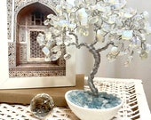 Moonstone Crystal Tree, Chakra Healing Gemstone Tree, Stone of quot new beginnings quot Tree, Wire Sculpture Tree, Tree of Life