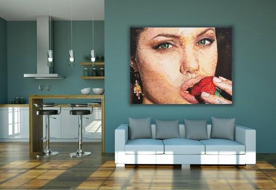 Angelina Jolie Exclusive Pixel Print