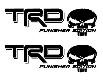 Toyota punisher skull tundra Tacoma TRD dicut vinyl decal fj 3 SIZES 15 colors
