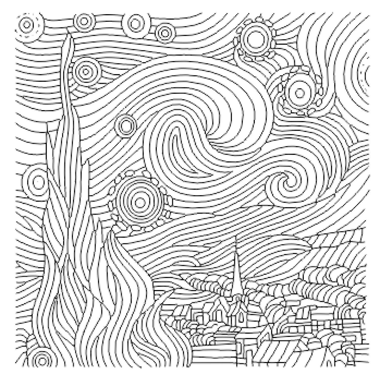 The Starry Night SVG | Etsy