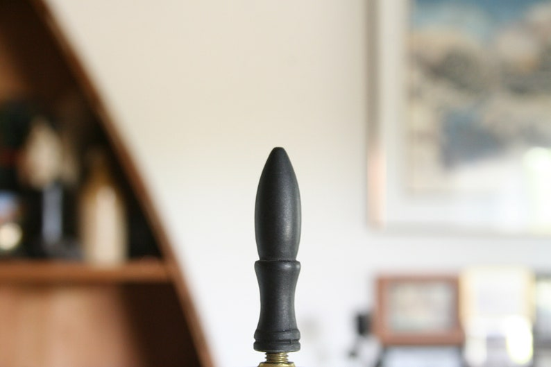 Small Threads Nice COndition Dark Pointy Lamp Finial #313 2.1 Dark Spearhead Lamp Finial