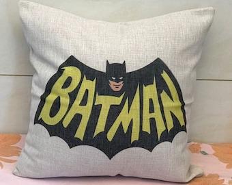 Batman Gift Batman Pillowcase Boy Gift Batman Fan Child Pillow Batman Comic Con Toddler Pillow Travel Pillow Batman Bedding