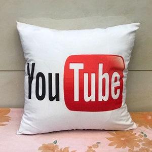 Youtube pillow cover cartoon creative