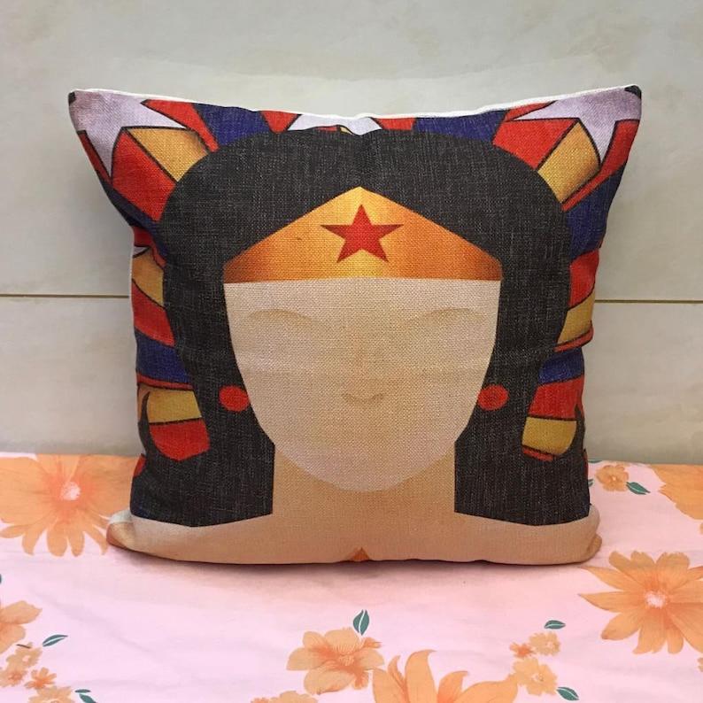 cartoon creative spiderman Wonder woman Captain America batman throw pillow case pillowcase cushion cover Superman pillow cover