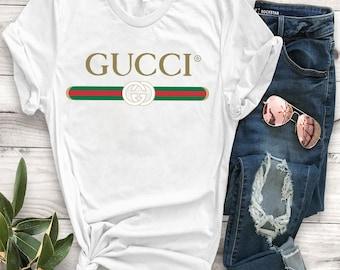 931bfe327 Unisex Gucci Shirt, Gucci Gift, Gucci Logo, Gucci White T-Shirt, Gucci, Vintage  Gucci, Gucci Hoodie, Women Gucci