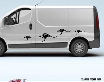 4X Van Caravan Mermaid Sticker Caravan Adventure Camping Decals Stickers Mountains Cars Bumpers Laptop