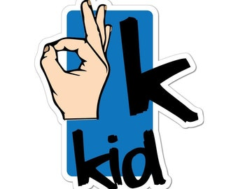 THUMBS UP Hand Gesture OK Signal Funny Car Decal Window Sticker