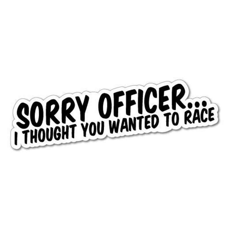 Sorry Officer Jdm Sticker Decal Japan Domestic Market Cars Drift Kanji Lowered Stance Cool Funny Sticker Decal Vinyl