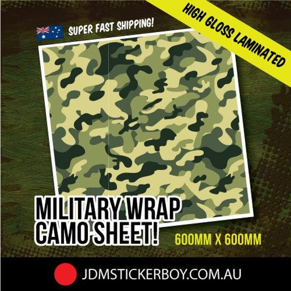 Military Wrap Camo White 600Mm X 600Mm Stickerbomb Wrap Deal Pack Bundle Sale Discount Save Awesome Decal Car Laptop Skateboard Phone