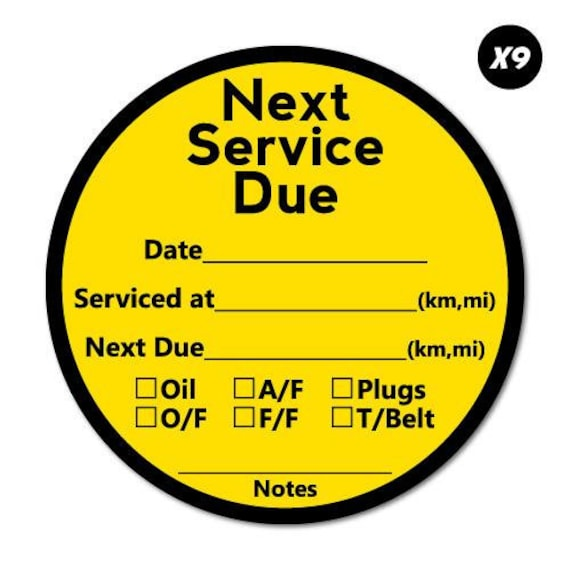 9X Red Next Appointment With Note Service Reminder Sticker Service Reminders Mechanic Decal Cars Bumpers Laptop
