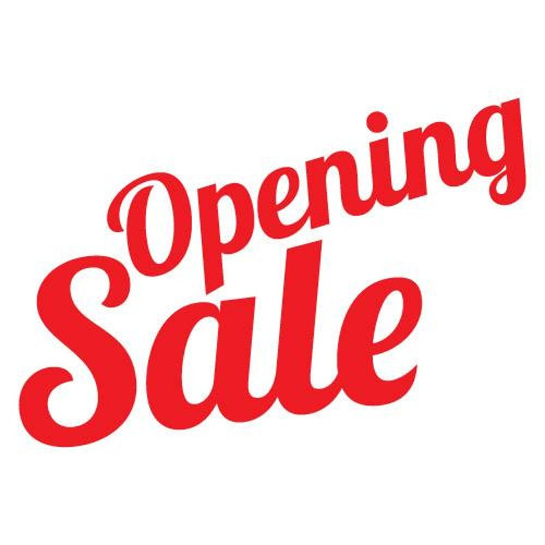 Opening Sale Shop Sticker Shopfront Signs Business Commercial Sale Cards Accepted