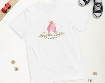 Sugar Queen Bakery Logo Children's T - White
