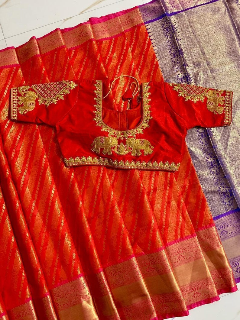 Sari with Stitched Blouse For Women Festive Wear Saree With Embroidered Work Stitched Readymade Blouse Wedding saree