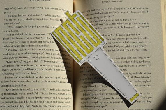 Nct 127 lightstick shaped bookmark