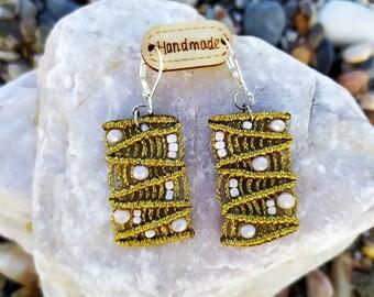 Macrame EarringsBoho EarringsHippie EarringsGypsy EarringsTribal EarringsBohemian EarringsEarrings HandmadeBeaded Earringsmom gift