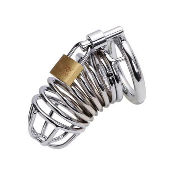 Stainless Steel Device with Lock 45mm Silver for Men
