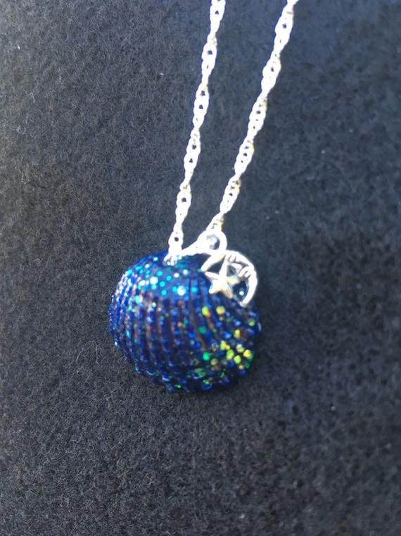 Pendant Blue Glitter 3