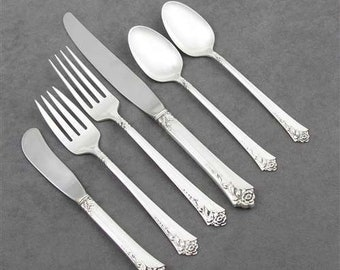 Oneida Stainless LASTING ROSE Serving Spoons * SET OF TWO