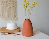 Ceramic vase, Terracotta vase, Bud vase, Modern flower vase, Pottery vase handmade, Farmhouse decor, Ikebana vase, Minimalist stoneware vase