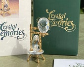Swarovski Crystal Memories Spinning Wheel Mint in Box