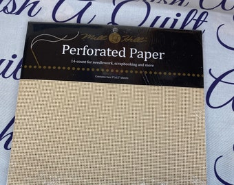 MILL HILL Perforated paper ~ 14ct Counted Cross Stitch Embroidery 2pk ECRU
