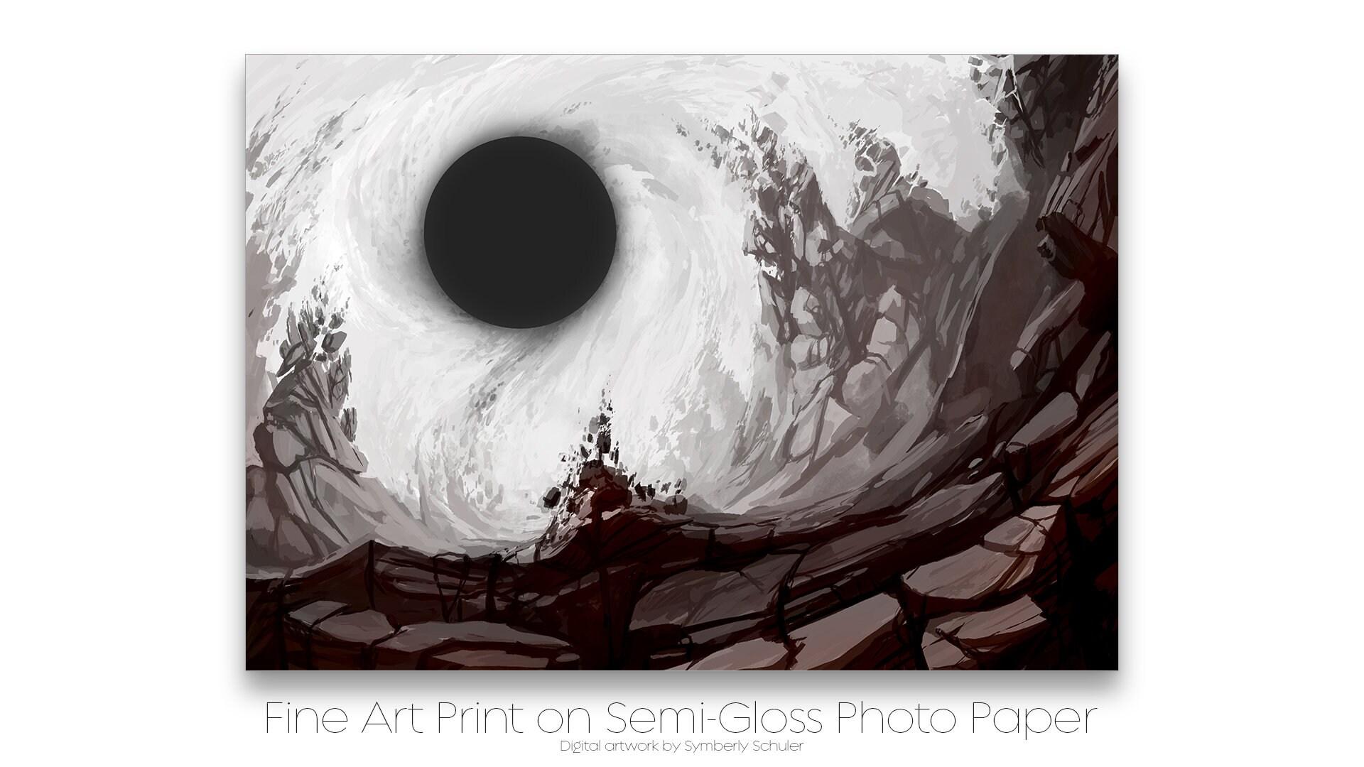 Fine Art Print: Black Hole Concept Illustration - Game Artwork