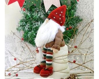 Gnome Christmas   Christmas Crochet Patterns   christmas amigurumi   holiday decor Christmas gnome PDF