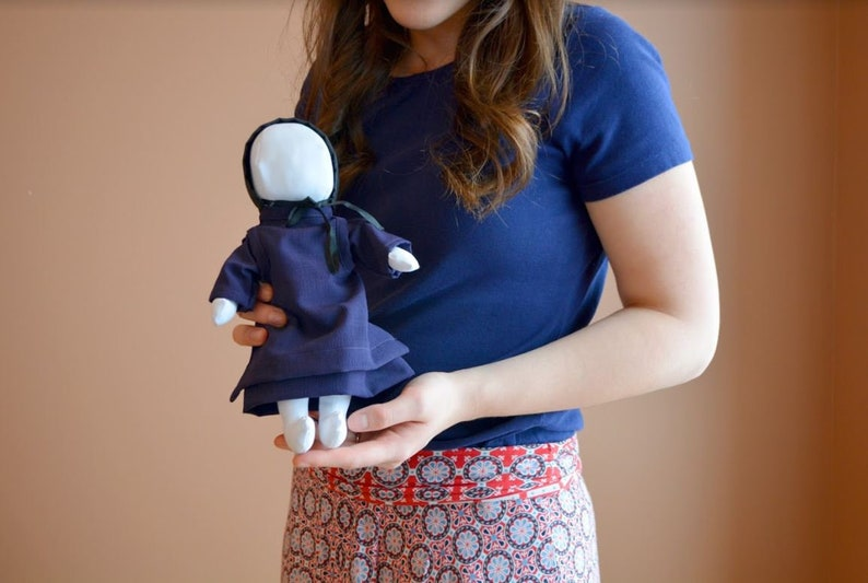 Amish Doll, Faceless Doll, Handmade in Ohio's Amish Country