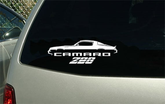 Camaro Personalizado Pegatina de vinilo Laptop Coche Ventana Parachoques Chevrolet SS Z28 Caja de herramientas