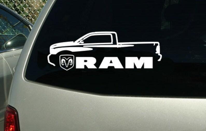 2010-15 Dodge Ram Pickup Truck car sticker decal wall graphic mural