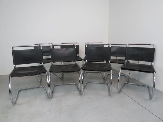 MR10 chairs by Ludwig Mies van der Rohe for Knoll International, Years ' 80, set of 8