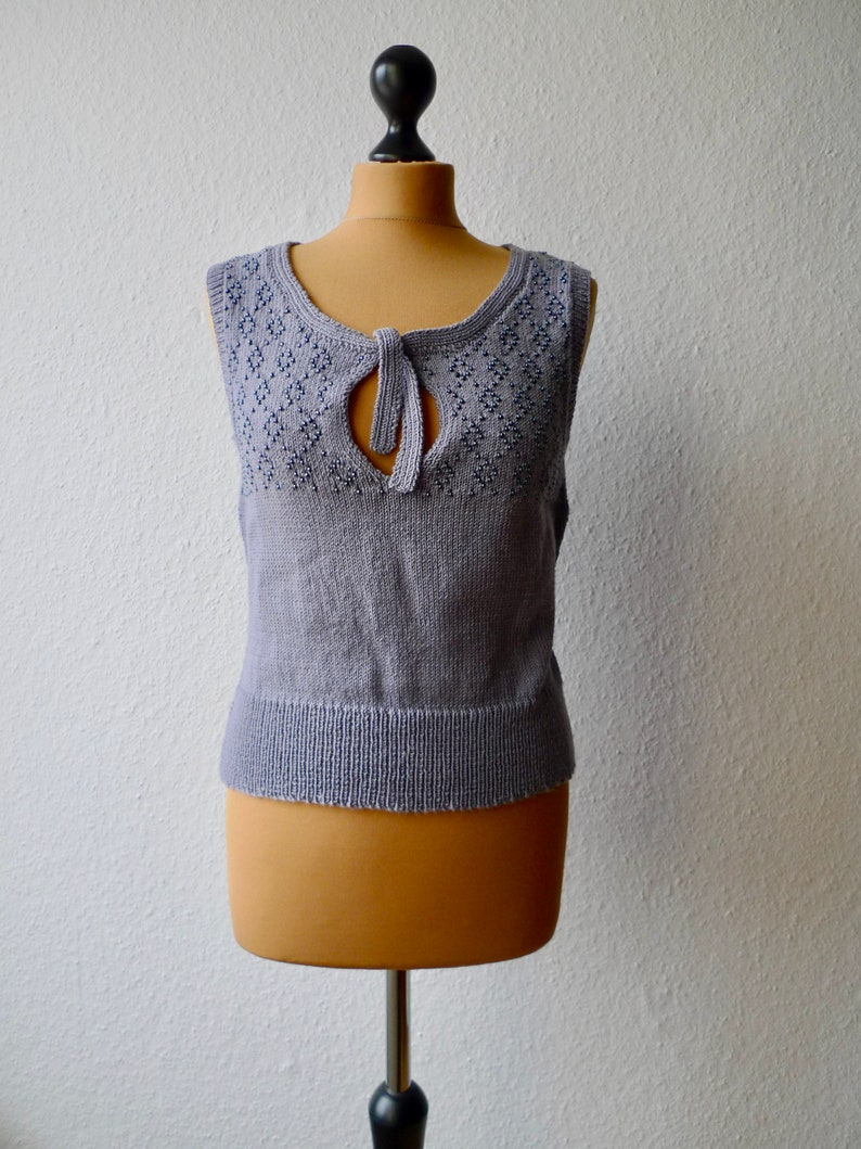 4ply Pure Wool Beaded Vest