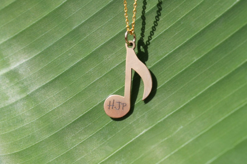 Initial Music Note Necklace Music Necklace Bridesmaid Music Gift gift Daughter gift Mothers Day Gift