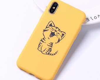 e93d62c20a Cat Phone Case for iPhone 5 5s SE 6 6s 7 8 Plus X XR XS Max, Cute Animal  Cartoon Soft Silicon Tpu iPhone Case