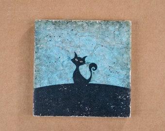 Coaster - Graffiti - Tile - approx. 10 x 10 cm - Street Art - Vintage Style - Concrete - Gift - 082