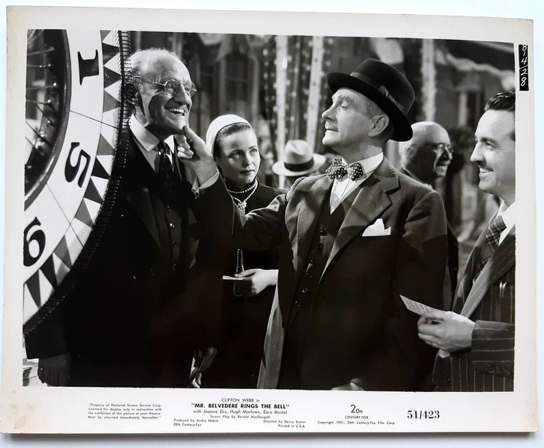Belvedere Rings the Bell. Original movie still from Mr