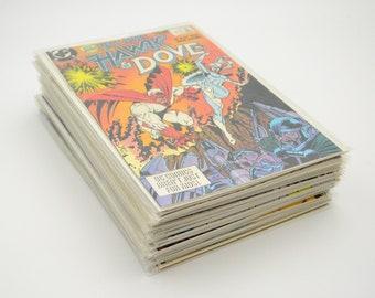 Comic Lot Hawk & Dove 1-28, DC Comics, complete set.