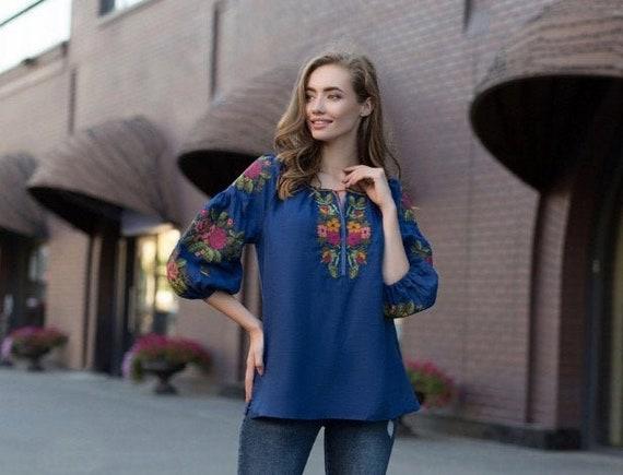 Gift daughter Ukrainian Vyshyvanka  for girls Gift for Her Linen Embroidered blouse