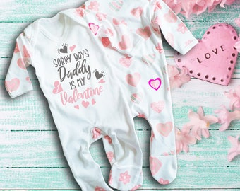 Sorry Girls My Mummy is my Valentine Rompersuit Sleepsuit Baby Grow Valentine/'s