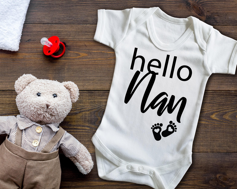 Happy Birthday Nanny Party Hat Boys Baby Grow Bodysuit